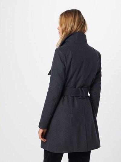 mbym Asymmetrischer Mantel 'Mika' in grau: Rückansicht