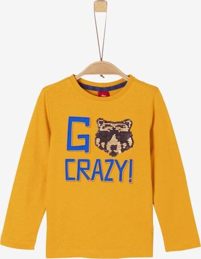 s.Oliver Junior Shirt in royalblau / goldgelb, Produktansicht