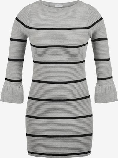 JACQUELINE de YONG Strickkleid 'Rike' in grau / schwarz: Frontalansicht