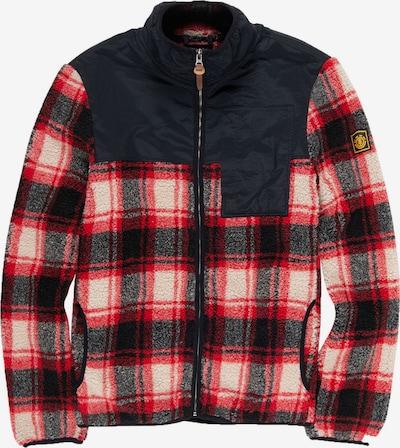 ELEMENT Fleece jas 'Abenaki' in de kleur Rood / Zwart / Wit, Productweergave