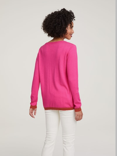 heine Pulover | roza / karminsko rdeča barva: Pogled od zadnje strani