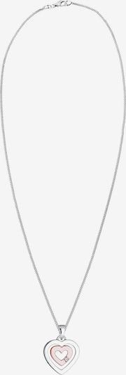 Diamore Kette 'Herz' in altrosa / silber, Produktansicht