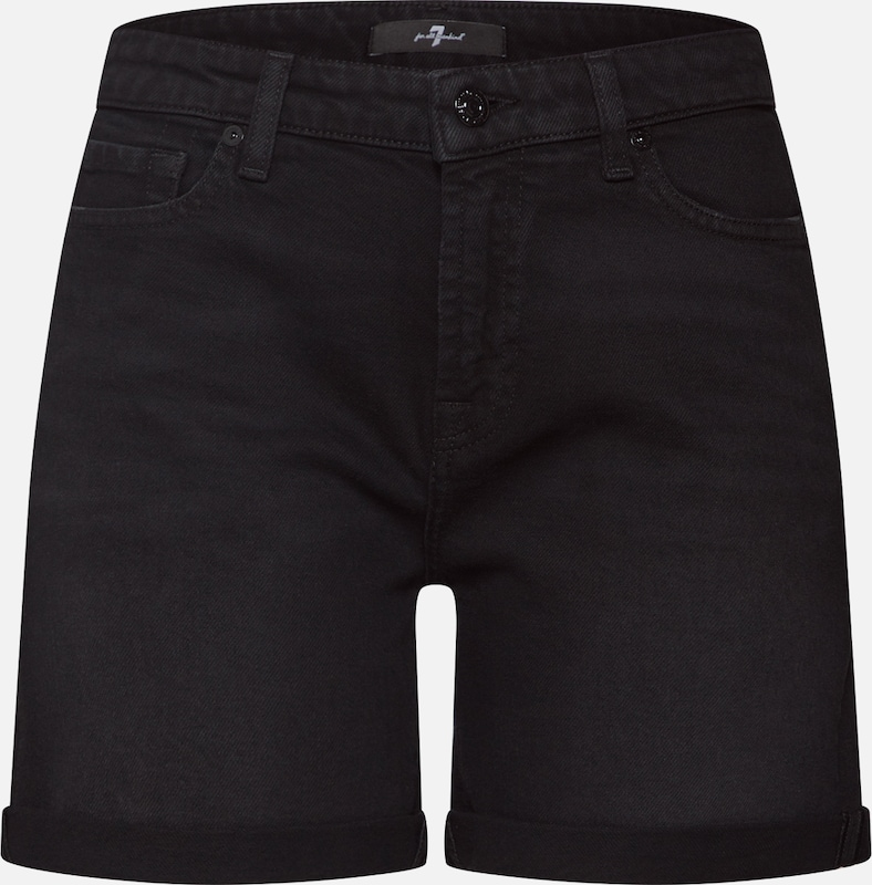 7 for all mankind Shorts 'BOY' in black denim, Produktansicht