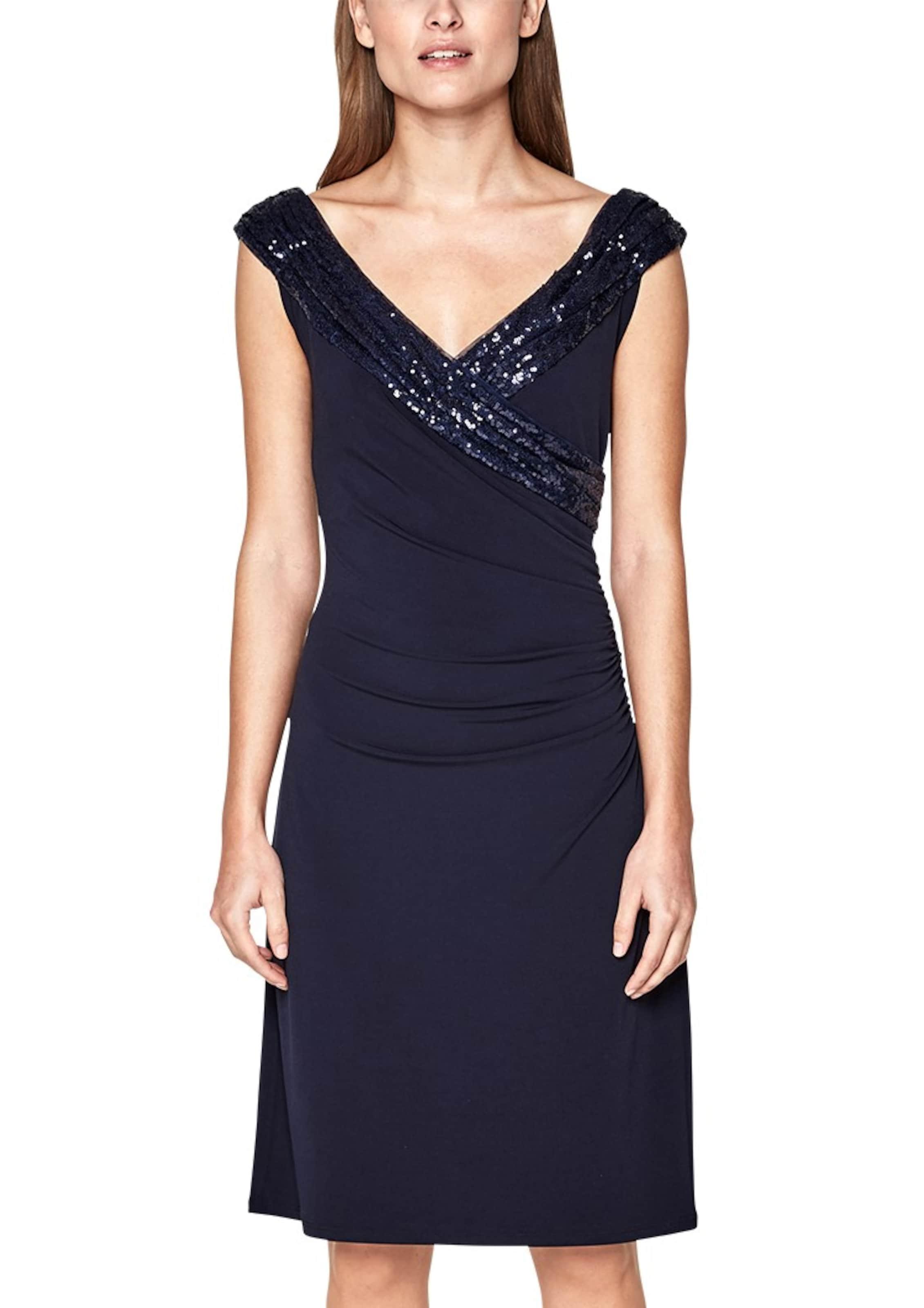s.Oliver BLACK LABEL Figurbetontes Kleid mit Pailletten Verkauf Neuesten Kollektionen CUenu