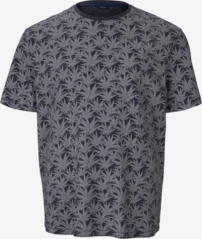 TOM TAILOR Men Plus T-Shirt in grau / dunkelgrau, Produktansicht