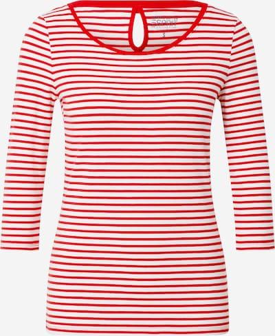 ESPRIT Tričko - červená / šedobiela: Pohľad spredu