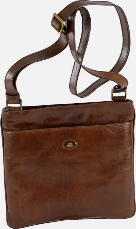 The Bridge Leather Shoulder Bag Story Uomo