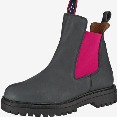 JOLANA & FENENA Chelsea Boots in grau / dunkelpink, Produktansicht