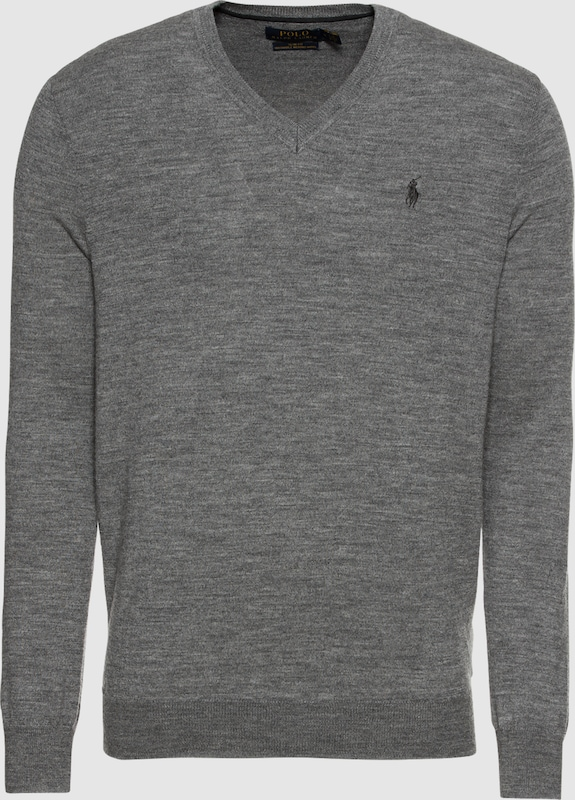 POLO RALPH LAUREN Pullover 'LS SF VN PP-LONG SLEEVE-SWEATER' in grau  Neuer Aktionsrabatt