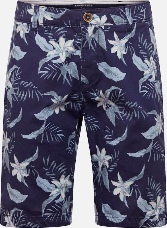 Coloursamp; En Bleu ClairFoncé 'elon' Sons Pantalon IYfm7b6gyv
