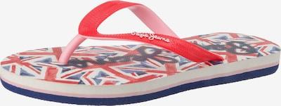Pepe Jeans Zehentrenner 'Beach UK' in blau / rot / weiß, Produktansicht