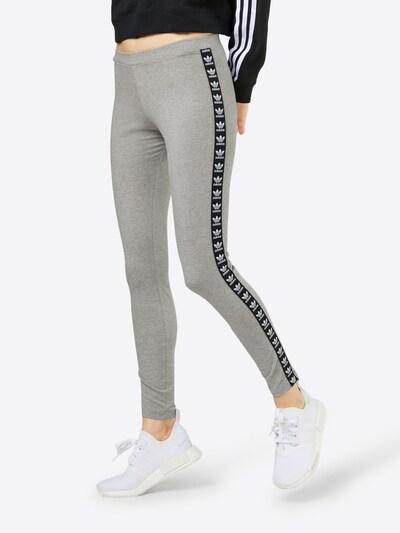 ADIDAS ORIGINALS Leggings in graumeliert / schwarz / weiß, Modelansicht