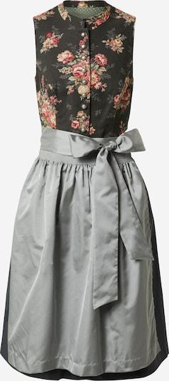 MARJO Dirndl 'Hanja' in stone / dunkelgrün / mischfarben, Produktansicht