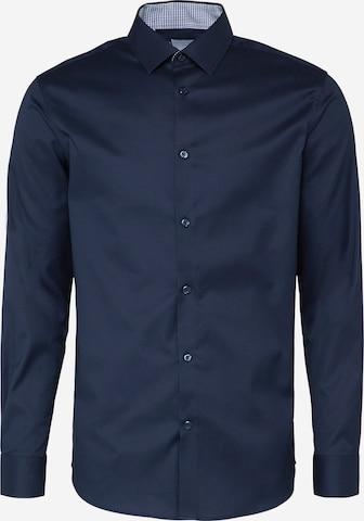 SELECTED HOMME Triiksärk 'SHDONENEW-MARK', värv sinine