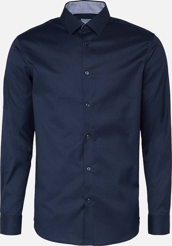 SELECTED HOMME Overhemd 'SHDONENEW-MARK' in de kleur Navy, Productweergave