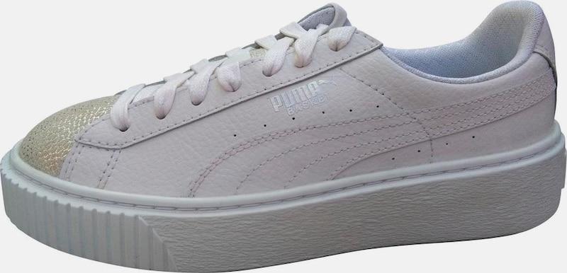 PUMA Sneaker »Basket Platform Glitzer« Hohe Qualität