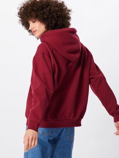 LEVI'S Sweatshirt 'UNBASIC' HOODIE' in rot: Rückansicht