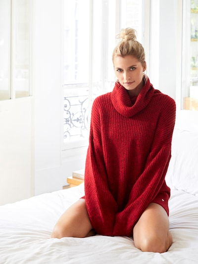 LeGer by Lena Gercke Pullover 'Juna' in rot: Frontalansicht