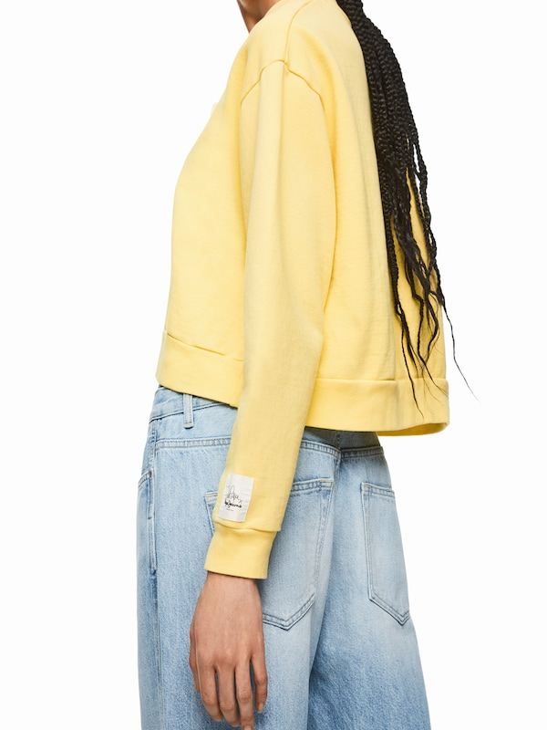 Pepe Jeans Sweatshirt 'Dua Lipa GRACE' sárga | ABOUT YOU