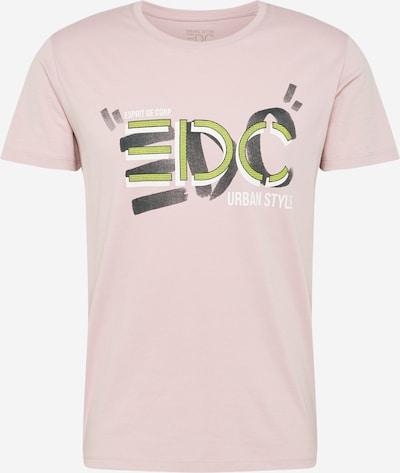 EDC BY ESPRIT Majica | rumena / antracit / staro roza / črna barva: Frontalni pogled