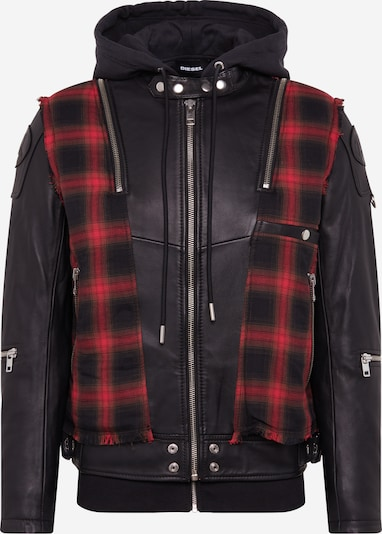 DIESEL Tussenjas 'L-NORMAN JACKE' in de kleur Rood / Zwart, Productweergave