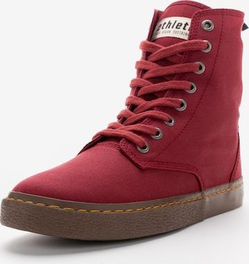 Ethletic High-Top Sneakers 'Brock' in Red