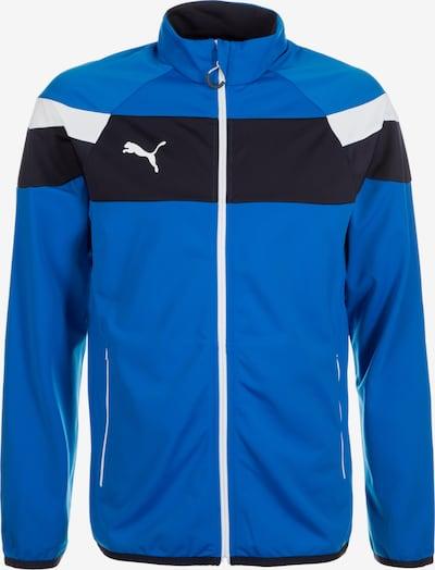PUMA Trainingsjacke 'Spirit II' in blau / nachtblau / weiß, Produktansicht