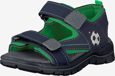 RICOSTA Sandalen 'Blinkies Fire' in dunkelblau / grün, Produktansicht
