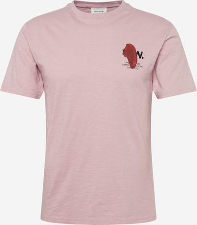 WOOD WOOD T-Shirt 'Slater' en rose, Vue avec produit