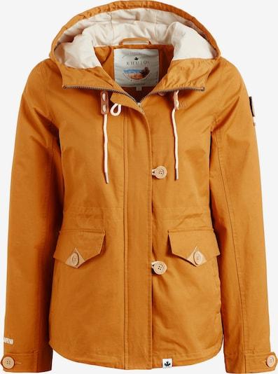 khujo Jacke 'FARAI' in braun / gelb / orange, Produktansicht
