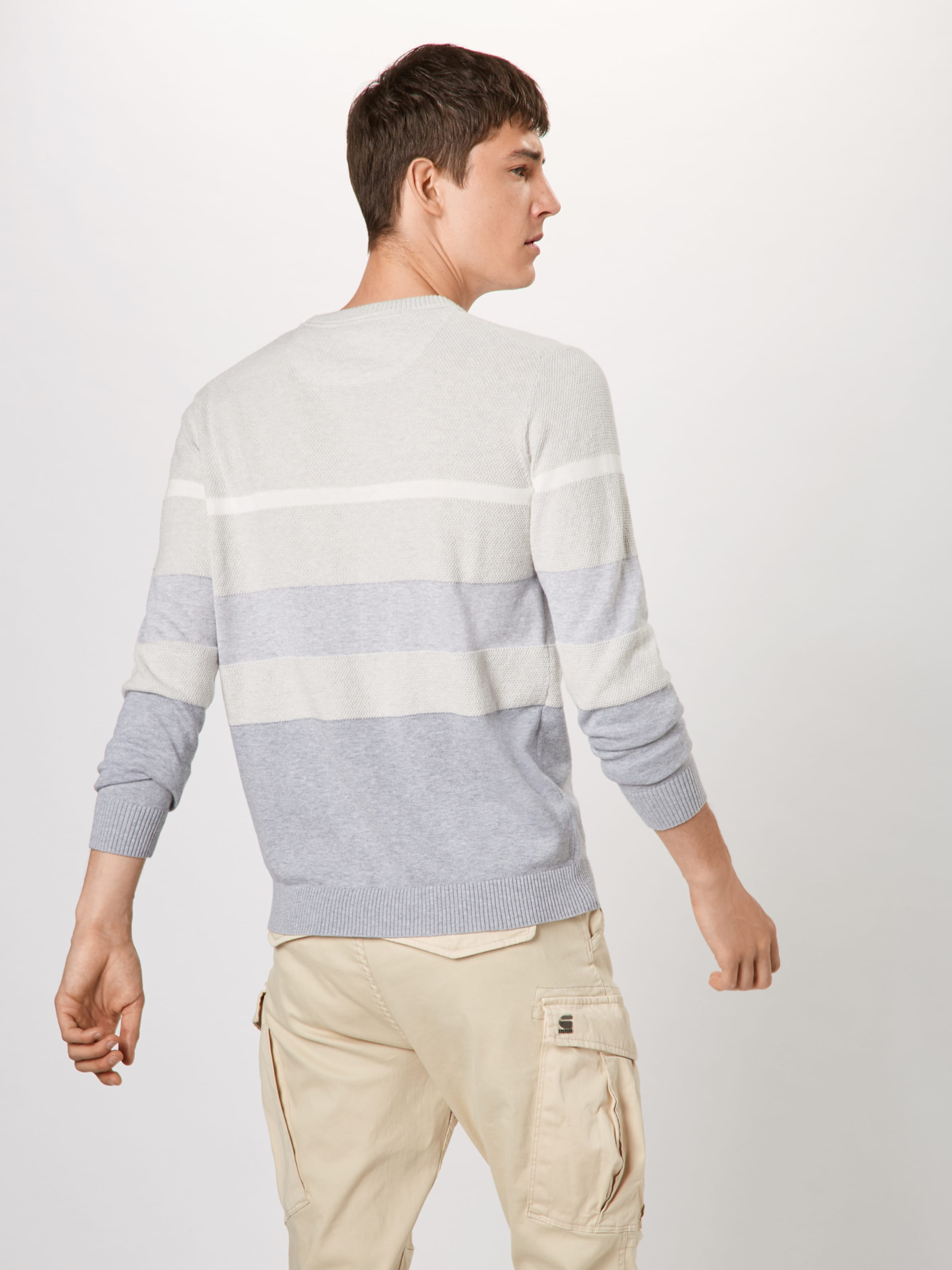 'core G star In Stripe' Raw RauchblauHellgrau Weiß Pullover vmnw8NO0