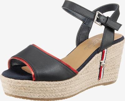 TOM TAILOR Remienkové sandále - béžová / tmavomodrá / červená, Produkt