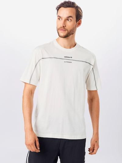 ADIDAS ORIGINALS T-Shirt in schwarz / weiß: Frontalansicht