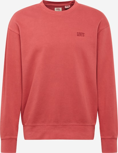 LEVI'S Sweatshirt 'AUTHENTIC LOGO CREWNECK' in de kleur Rood, Productweergave