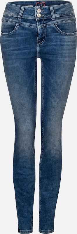 STREET ONE Jeans 'York' in blau / blue denim, Produktansicht