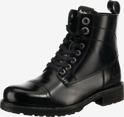 Pepe Jeans Schnürstiefelette in schwarz, Produktansicht