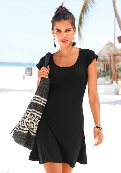BEACH TIME Strandkleid mit Spitze im Rücken in schwarz, Modelansicht