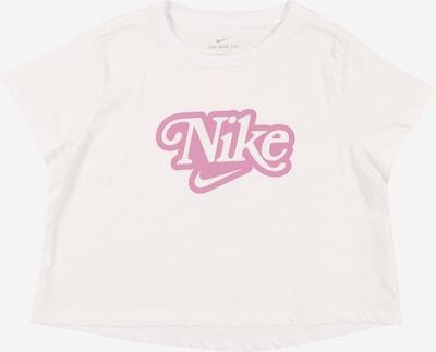 Nike Sportswear T-Shirt en rose / blanc, Vue avec produit
