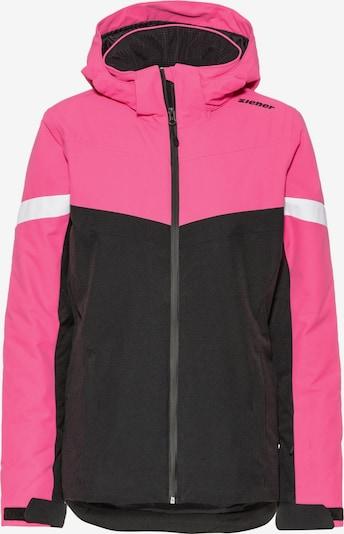 ZIENER Skijacke 'Pegina' in pink / schwarz / weiß, Produktansicht