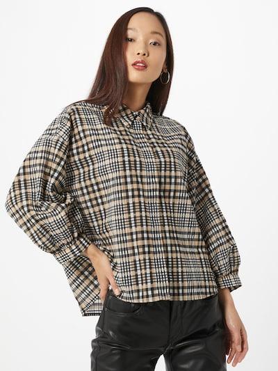 OPUS Bluzka 'Fegi' w kolorze beżowy / czarnym, Podgląd na modelu(-ce)
