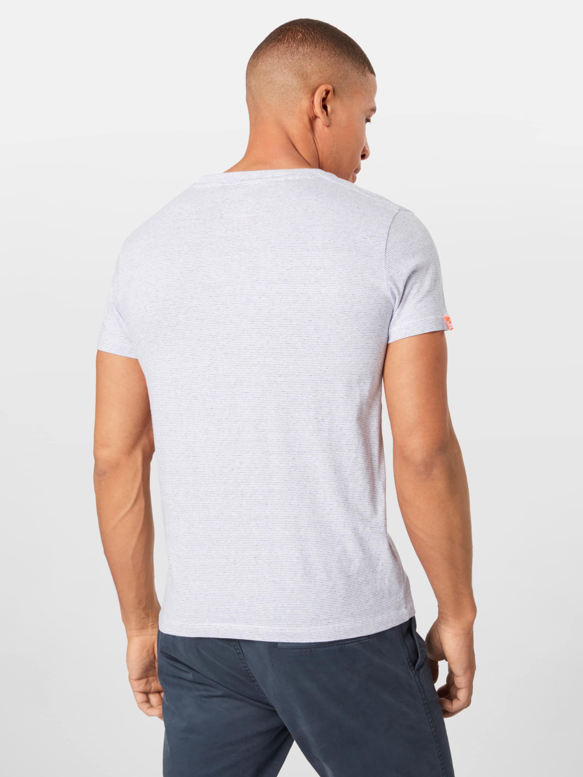 Tee' In Shirt Label Vintage 'orange Blau Superdry Embroidery XiwTkZOPu