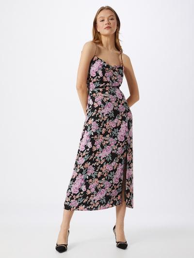 Fashion Union Kleid 'ALMOND' in pink / rosa / schwarz: Frontalansicht