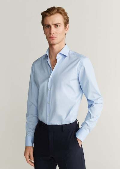 MANGO MAN Hemd in pastellblau: Frontalansicht