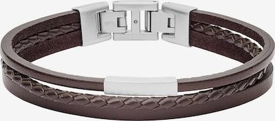 FOSSIL Armband in dunkelbraun / silber, Produktansicht