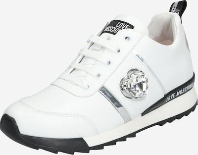 Love Moschino Sneaker 'JA1517' in schwarz / silber / weiß, Produktansicht