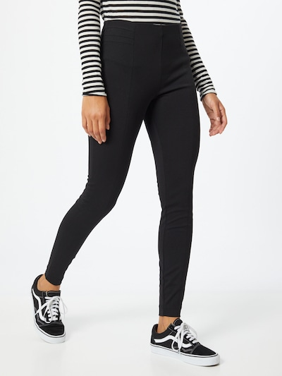 b.young Leggings 'BYRIZETTA' in schwarz: Frontalansicht