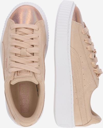PUMA Sneaker 'LunaLux' in creme / weiß: Seitenansicht