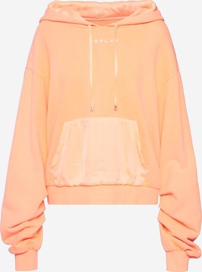 REPLAY Sweatshirt in de kleur Pasteloranje, Productweergave