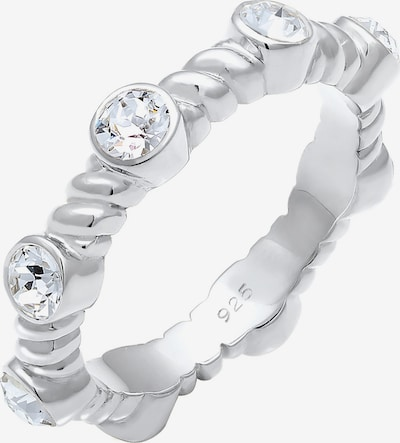 ELLI PREMIUM Ring Infinity Twisted in silber: Frontalansicht