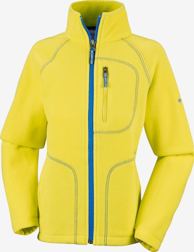 COLUMBIA Fleecejacke 'Fast Trek' in blau / gelb, Produktansicht